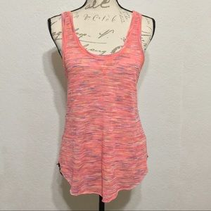 WE THE FREE PINK MULTI PRINT LOW BACK TANK TOP M